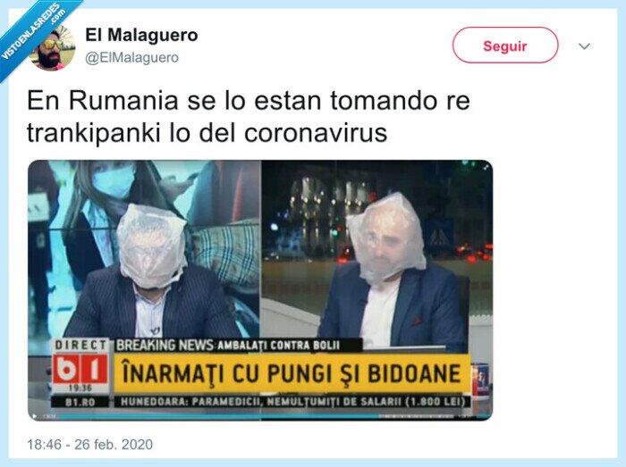 bolsas de plástico,coronavirus,mascarilla,rumania