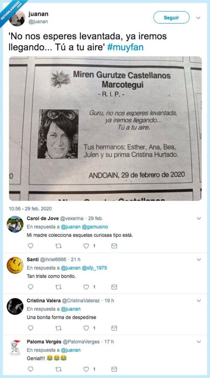 diario vasco,esquela,original