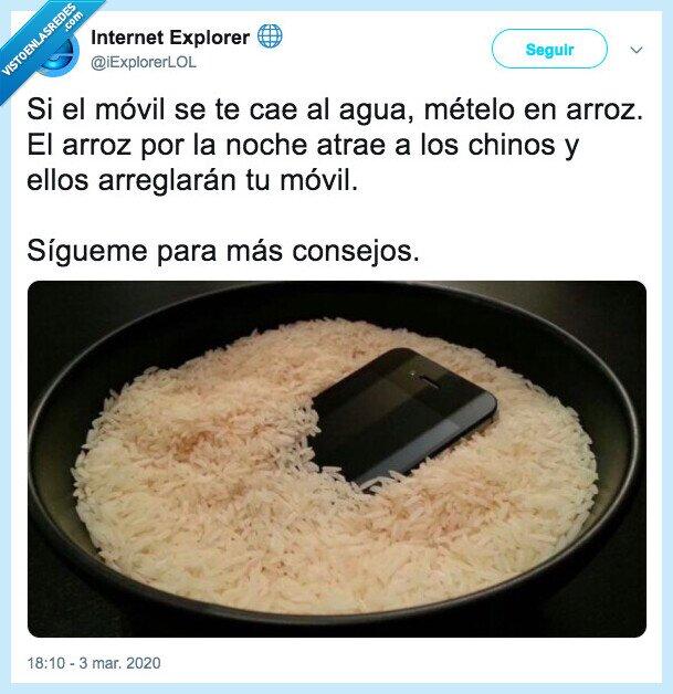 arroz,chinos,móvil