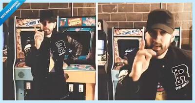 542088 - Eminem reta a todos al loco Godzilla Challenge: ¿eres capaz de 'escupir' 224 palabras en 30 segundos?