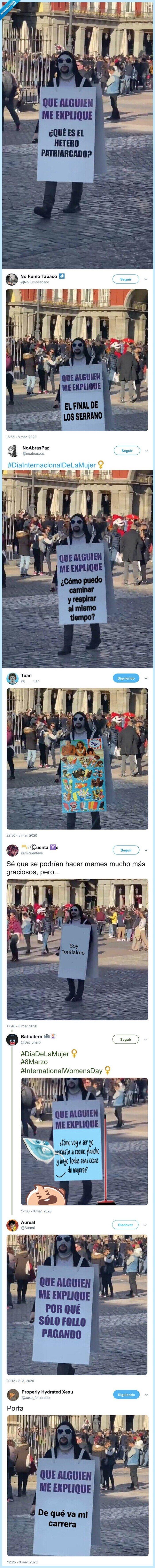 hetero blanco,machista,manifestación