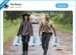 Enlace a Carl y Rick volviendo del Mercadona, por @the_raven77