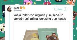 Enlace a Preguntan qué harías si alguien saca un preservativo de Animal Crossing antes de hacerlo y la respuesta es unánime sorprendentemente