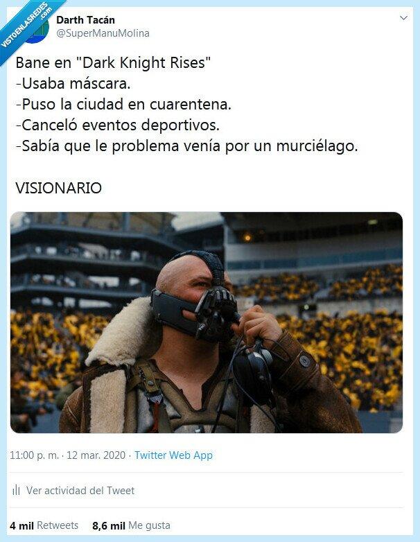 bane,batman,coronavirus,visionario