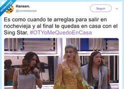 Enlace a Ayer OT era como Singstar, por @cometelasopa