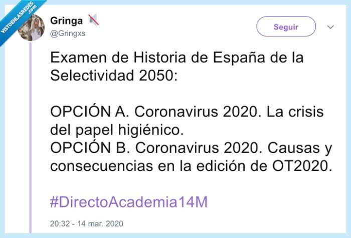 coronavirus,historia,ot,preguntas,selectividad