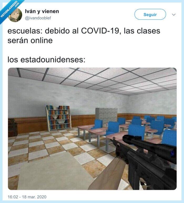 armas,clases online,coronavirus,eeuu,usa