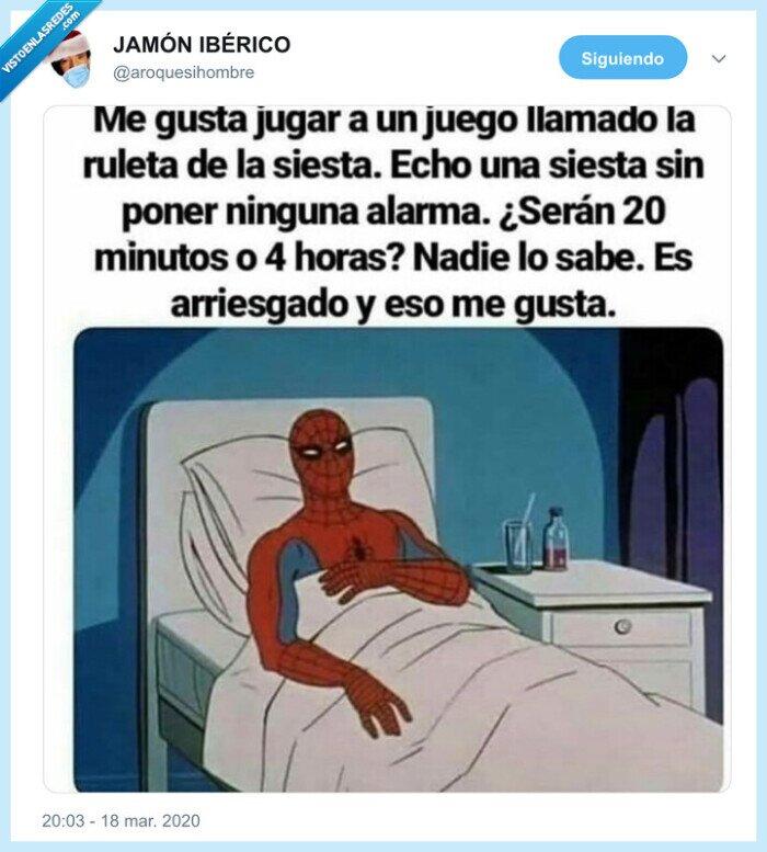 alarma,coronavirus,siesta,spiderman