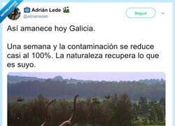 Enlace a Una semana y la contaminación se reduce casi al 100%. La naturaleza recupera lo que es suyo. Por @adrianledeb