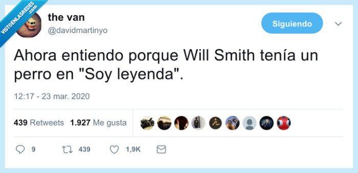 coronavirus,perro,soy leyenda,will smith