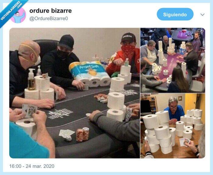 bingo,casino,coronavirus,papel higiénico,poker