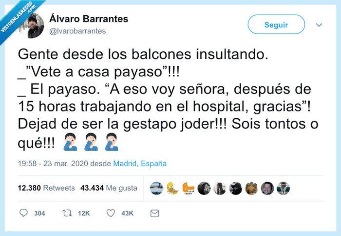 balcones,coronavirus,sanitario,trabajar