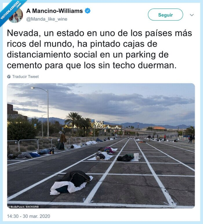distanciamiento social,nevada,parking