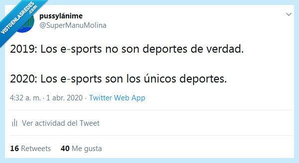 2019,2020,cuarentena,deportes,e-sports