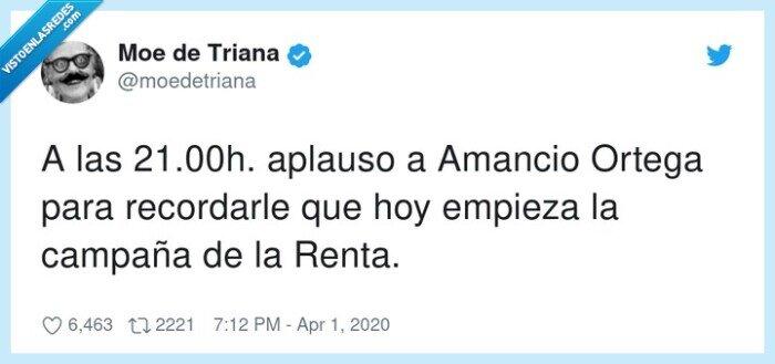 Amancio,aplauso,campaña,empieza,Ortega,recordarle