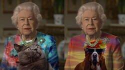 Enlace a Internet convierte el vestido verde de la reina Isabel II en un filón para los memes: