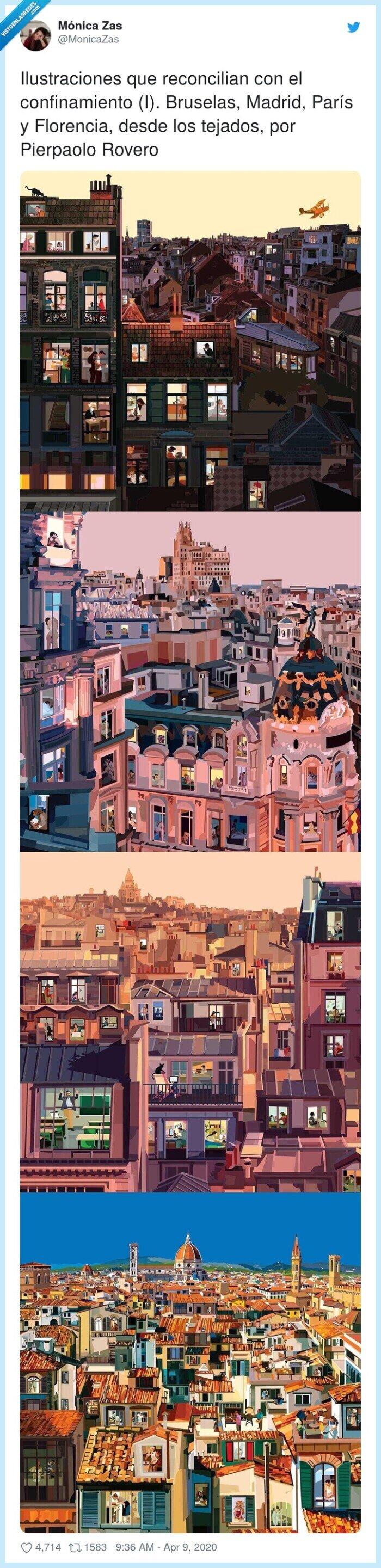 bruselas,confinamiento,florencia,ilustraciones,pierpaolo,reconcilian