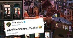 Enlace a Ilustraciones del confinamiento en distintas ciudades europeas, y atentos a Madrid, por @MonicaZas