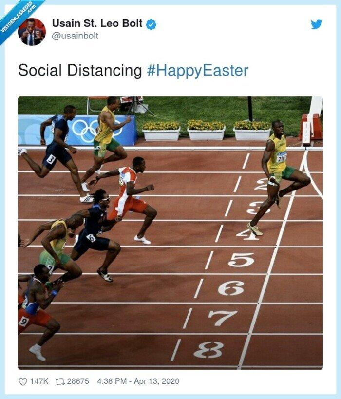 social distancing,usain bolt