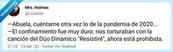 Enlace a Resistiré... Por @Cunetita