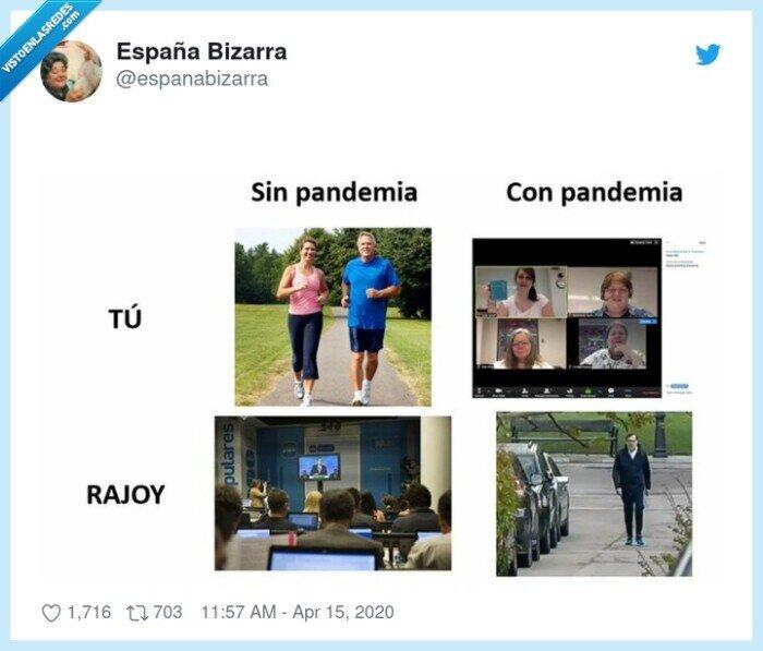 correr,cuarentena,pandemia,rajoy,tv