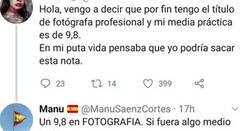 Enlace a Un estudiante de ADE se ríe de una fotógrafa por sus estudios, y acaba haciendo el ridículo, por @donchalecos