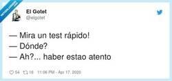 Enlace a ¡Un test rápido!, por @elgotet