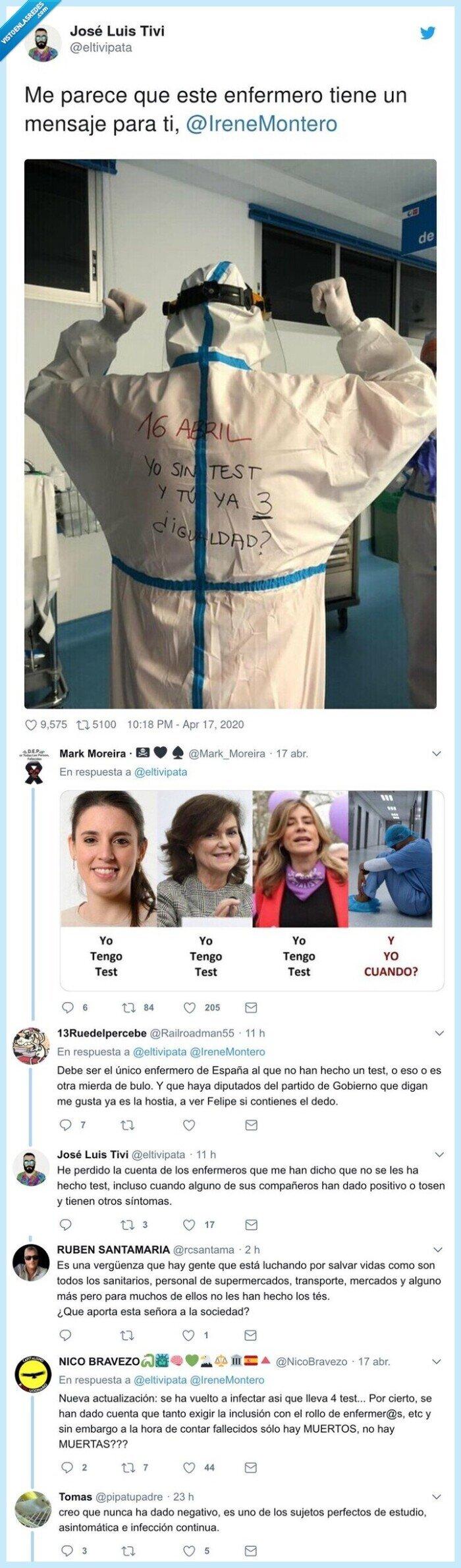 @irenemontero,coronavirus,enfermero,mensaje,parece