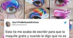 Enlace a Esta lerda intenta que esta maquilladora trabaje gratis para ella y cuando dice que no, la amenaza, por @bluemeansazul