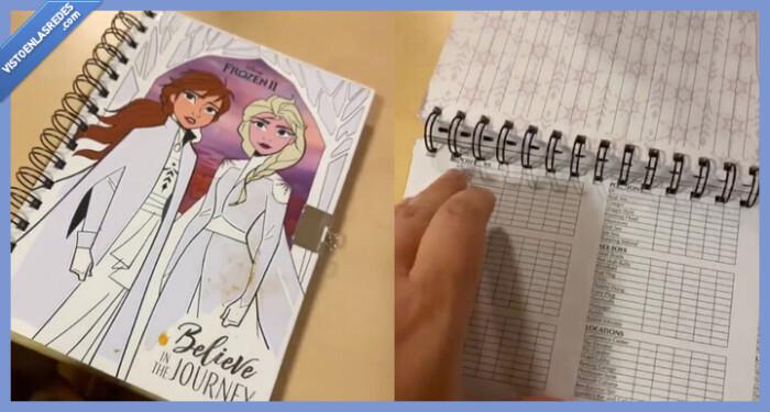 560584 - Madre flipando al descubrir que en el diario de 'Frozen 2' de su hija hay una lista de posturas sexuales