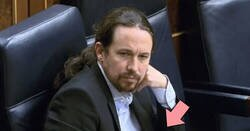 Enlace a El genial detalle en la chaqueta de Pablo Iglesias mientras acusa a Amancio Ortega de todo lo habido y por haber