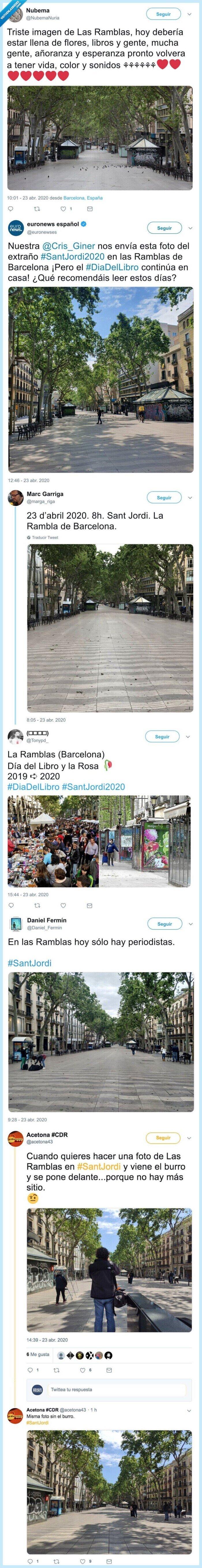 2020,23 de abril,barcelona,ramblas,sant jordi
