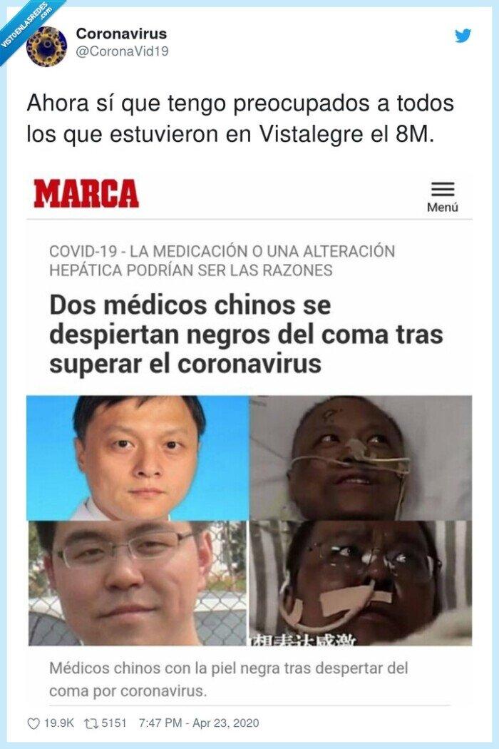 coronavirus,covid,efecto,negros,preocupados,vistalegre