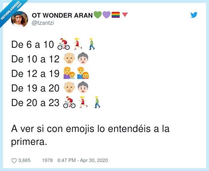 cuarentena,emojis,horarios,restricciones