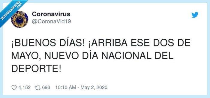 2 de mayo,arriba,coronavirus,deporte,nacional