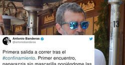 Enlace a Antonio Banderas sale a la calle tras el confinamiento, y los paparazzis no tienen espera