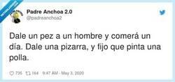 Enlace a No le hace falta la pizarra, solo la tiza, por @padreanchoa2
