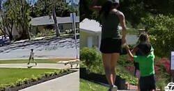 Enlace a En California, una vecina colgó un cartel delante de su casa donde ponía que esa zona era para