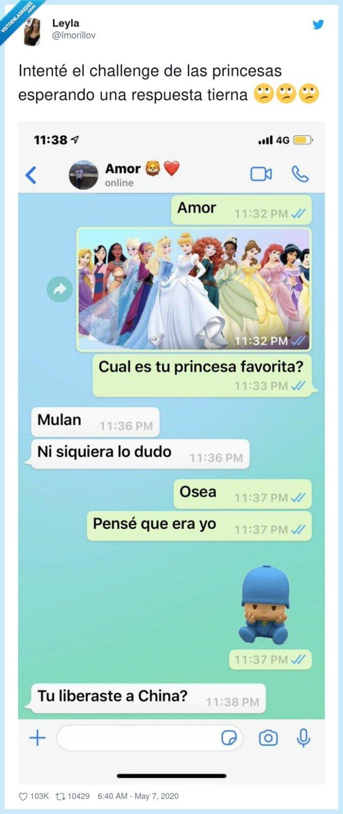 challenge,mulan,princesas,respuesta