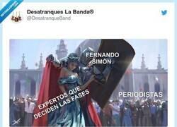 Enlace a Pobre Fernando Simón, por @DesatranqueBand
