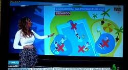 Enlace a Esta presentadora de informativos se le escapa una cosa muy guarrilla que no se podrá hacer en las piscinas, por @donchalecos