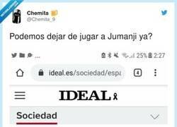 Enlace a El que llegue a nochevieja que grite Jumanji, por @Chemita_9