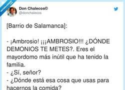 Enlace a Ambrosio pidiéndole la cacerola a Hakim, por @donchalecos