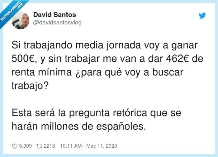 españoles,millones,pregunta,renta mínima,retórica,trabajar