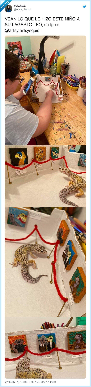 @artsyfartsysquid,galeria,lagarto,mini,niño