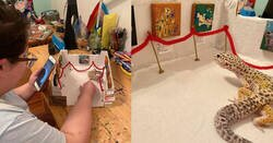 Enlace a Tremendo trabajo que este niño le hizo a su mascota, galería de arte con réplicas bien preciosa, por @emptychaoss