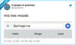 Enlace a Mis 3 moods, por @soyfeisim0