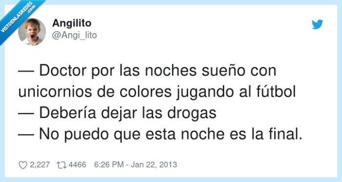 colores,drogas,fútbol,unicornios