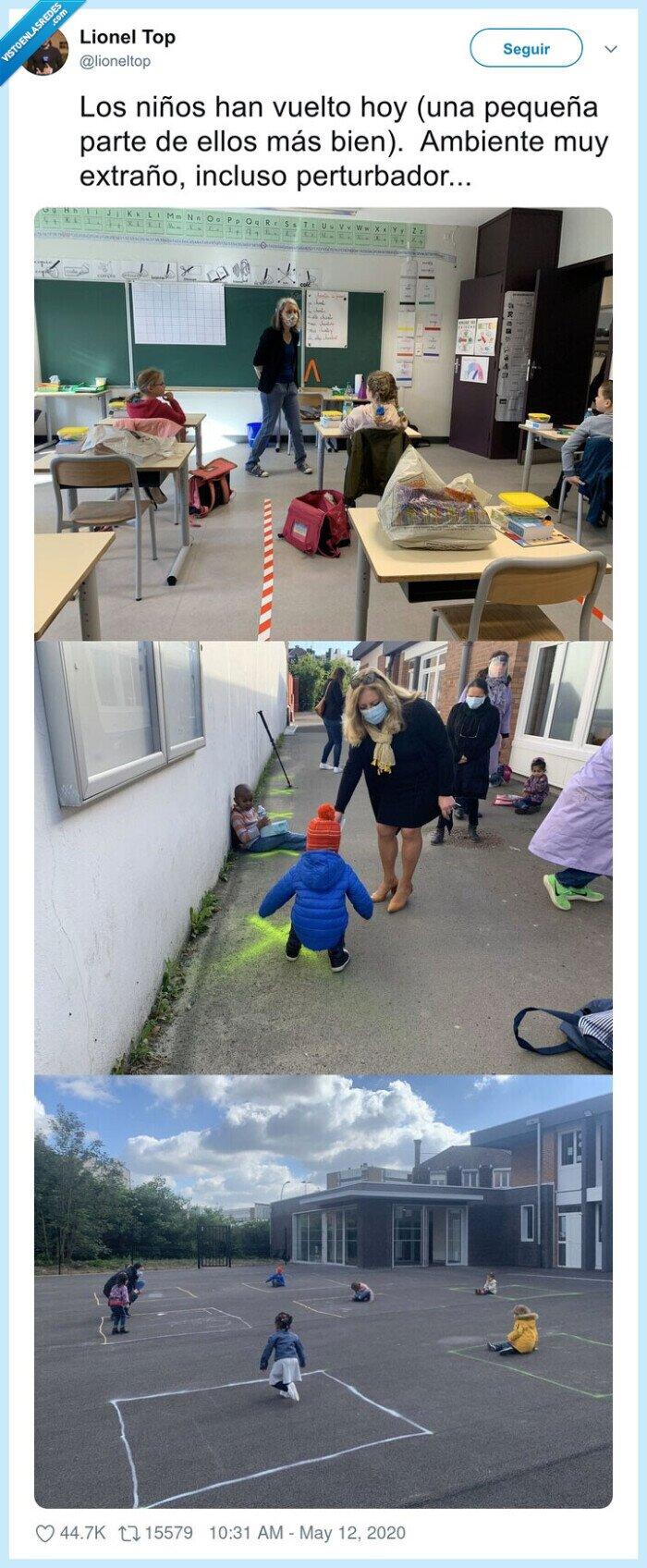 colegio,coronavirus,francia,niños,patio