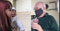 Enlace a Su abuelo conoció a su bis nieto después de 2 meses, nació y a los días empezó la cuarentena. Esta fue su reacción, por @_Aguuustini